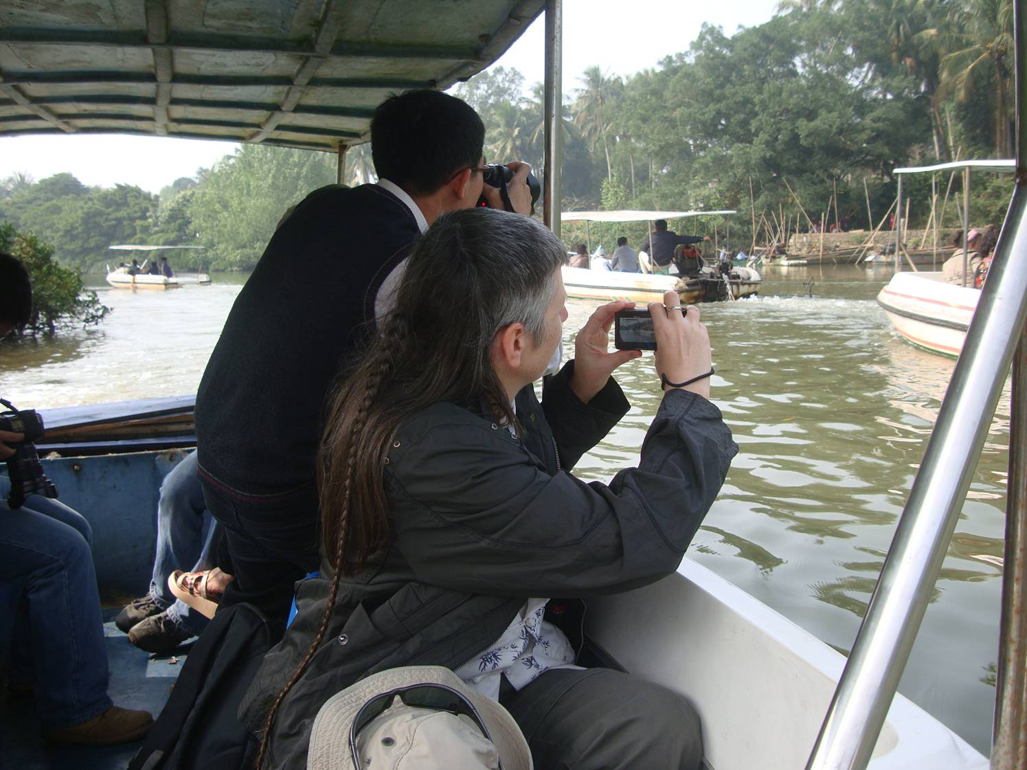 Picture:  The boat ride through the Haikou Mangrove Reserve.  Hainan Island, China