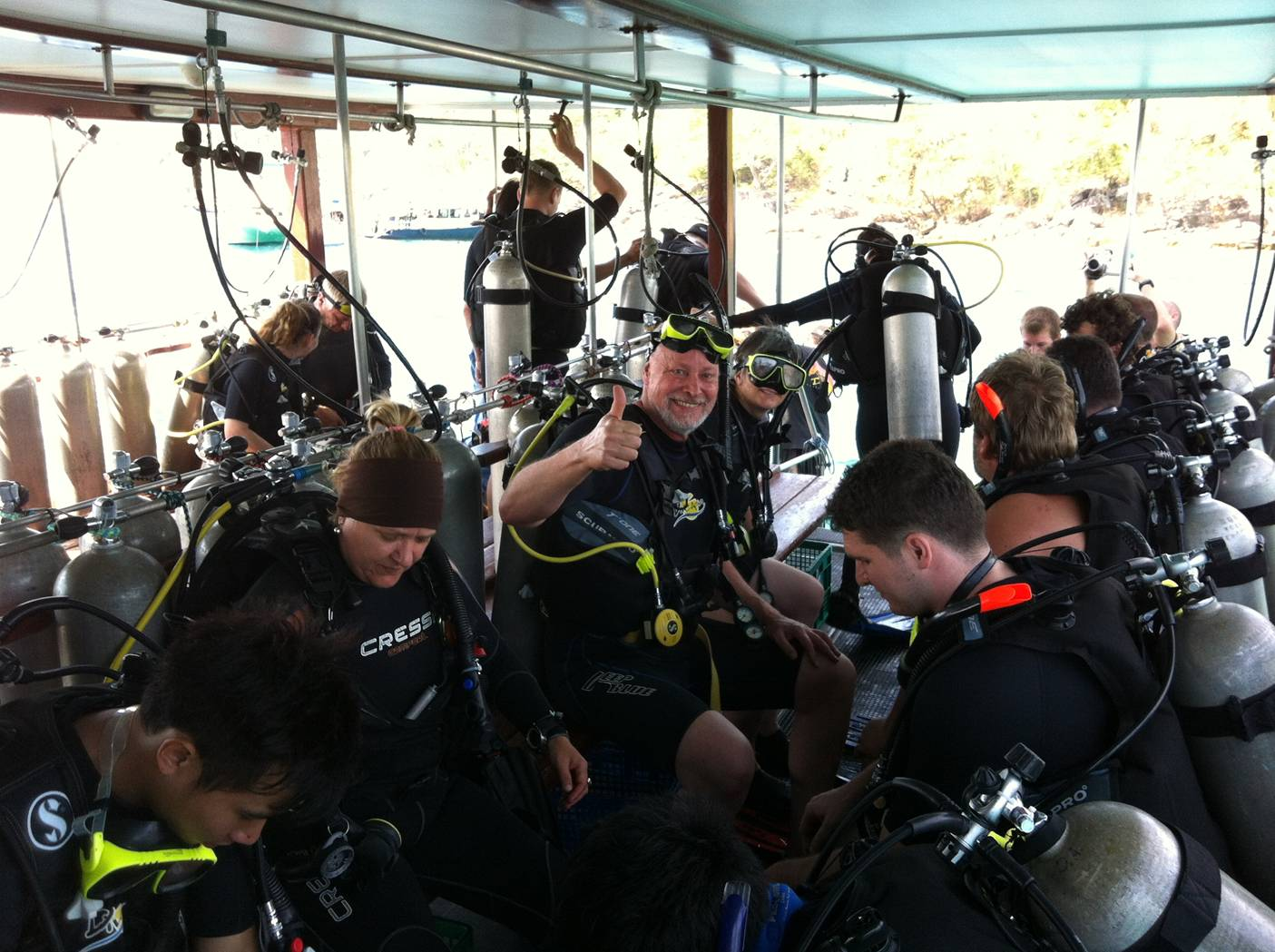 Picture: David suited up and ready for his first dive since 2001.  Dive Asia, Phuket Island, Thailand