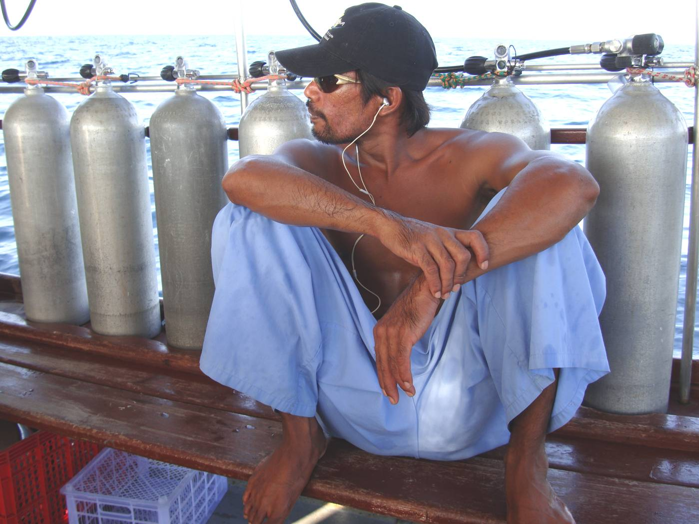 Picture:  Crew member, Dive Asia out of Phuket Island, Thailand