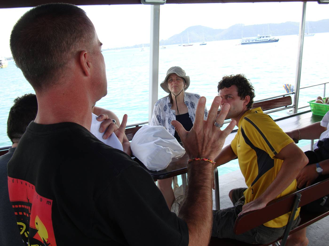 Picture: Orientation by the dive master on board Dive Asia out of Phuket Island, Thailand.