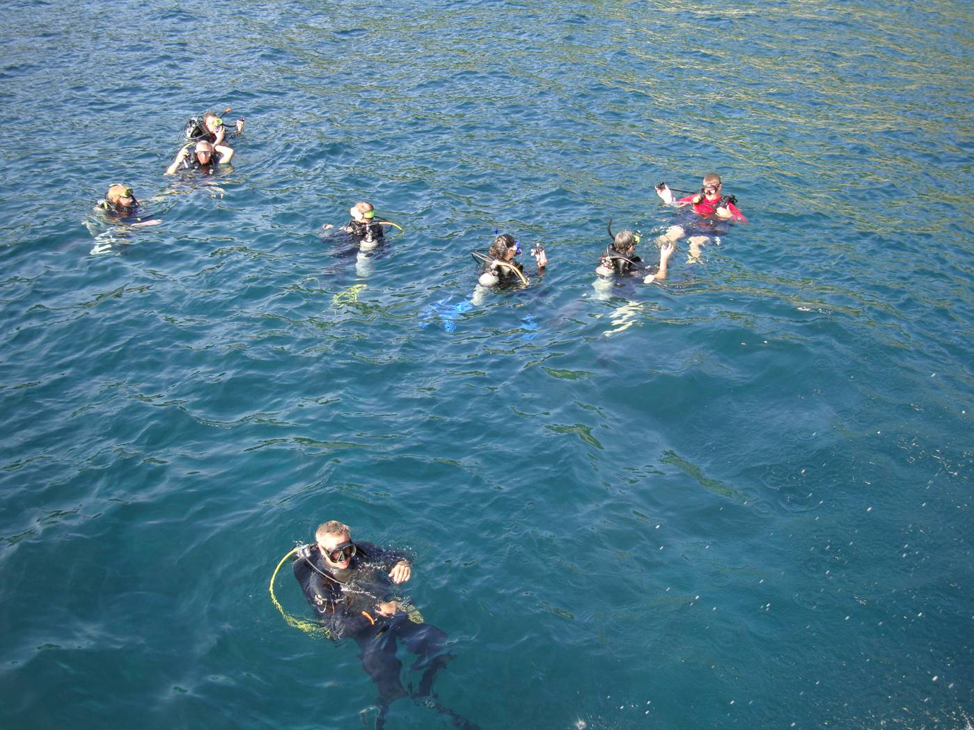 Picture:  Divers prepare to go down.  Dive Asia, Phuket Island, Thailand