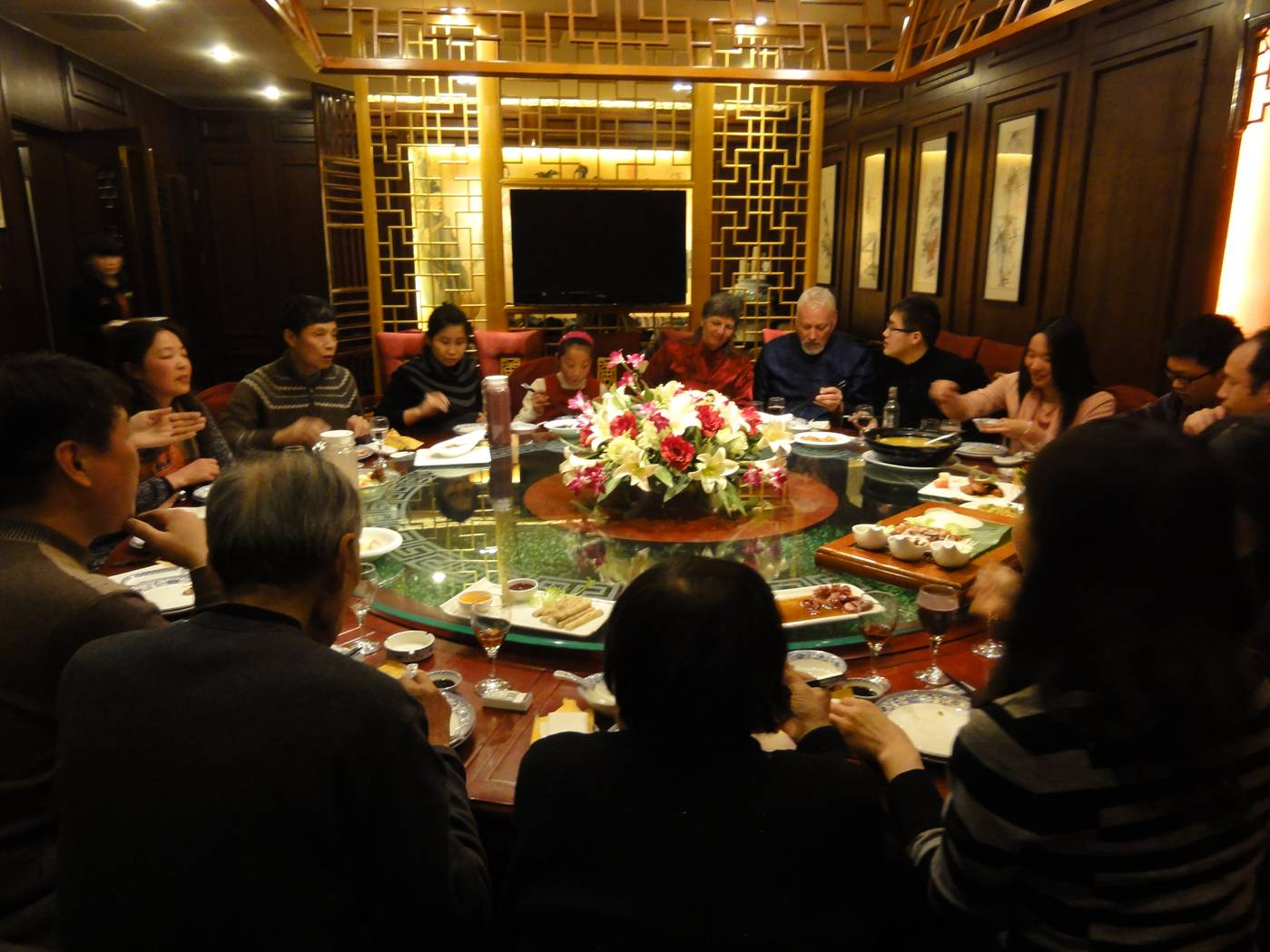 Picture:  This is a family dinner, and not something a tourist can buy.  Wuxi, China