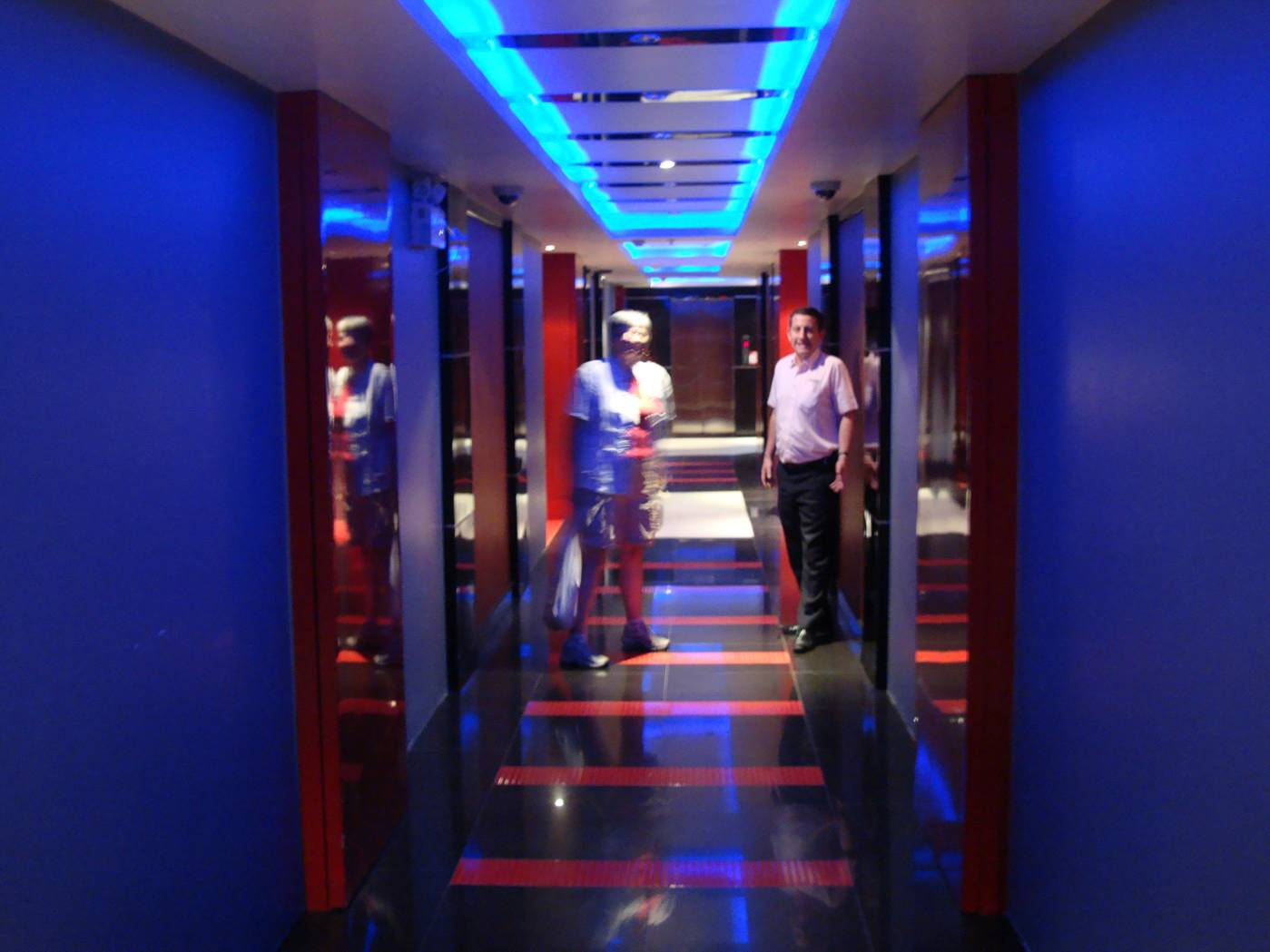 Picture:  Adam also showed us the kind of hallway I never want to see again.  Phuket Island, Thailand