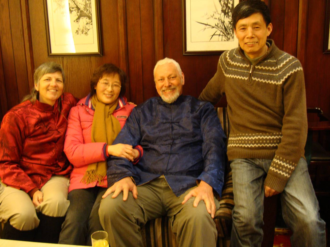 Picture:  George's parents, and our good friends here in China.