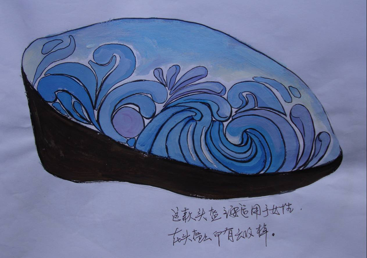 A softer, gentler, more feminine design.  I like it. Helmet Design Competition, Jiangnan University, Wuxi, China