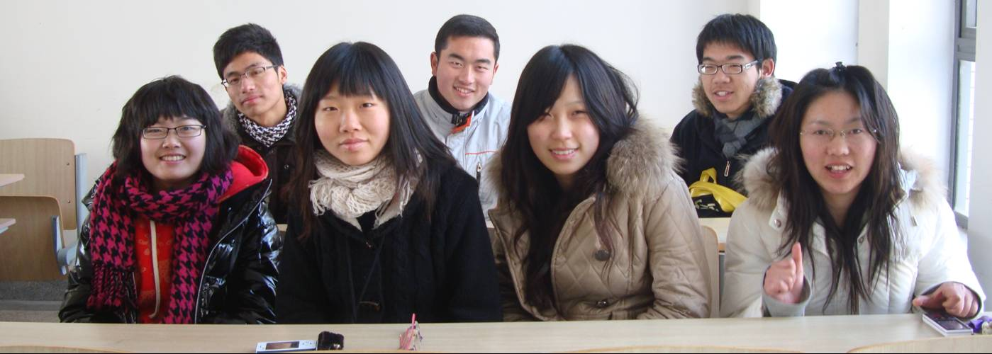 My sudents.  Not unhappy.  Not feeling repressed.  Jiangnan University, Wuxi, China