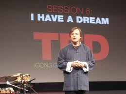Picture:  Chris Anderson, presenter of TED, but not TEDx.  Someday...