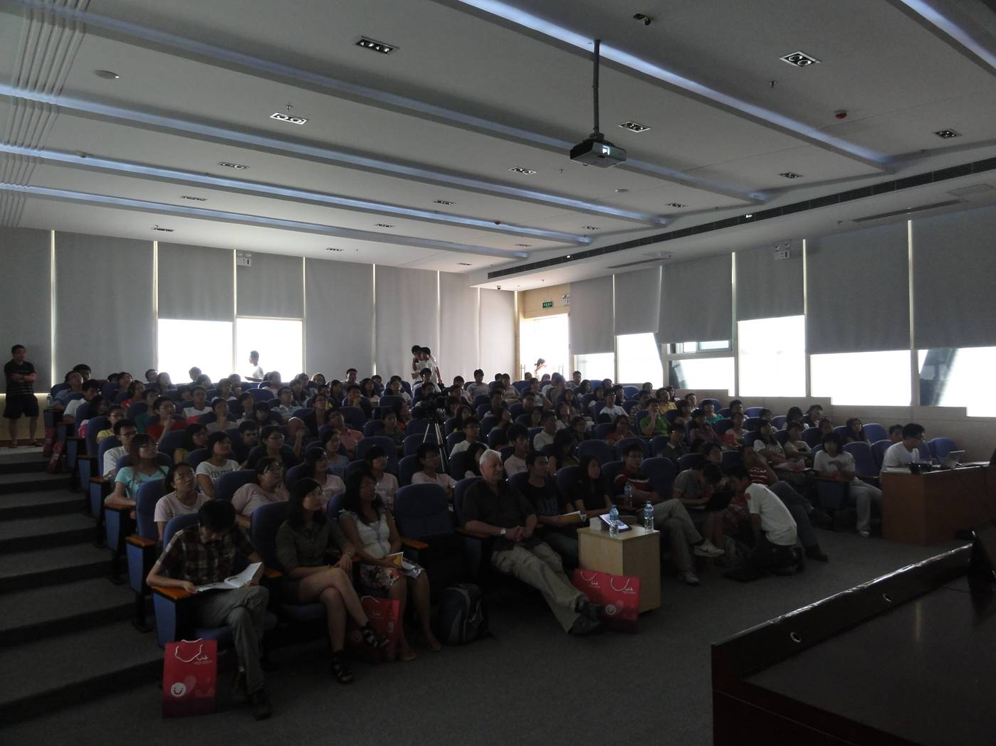 Picture:  The audience at TEDx Jiangnan University.  Wuxi, China.  A full house.