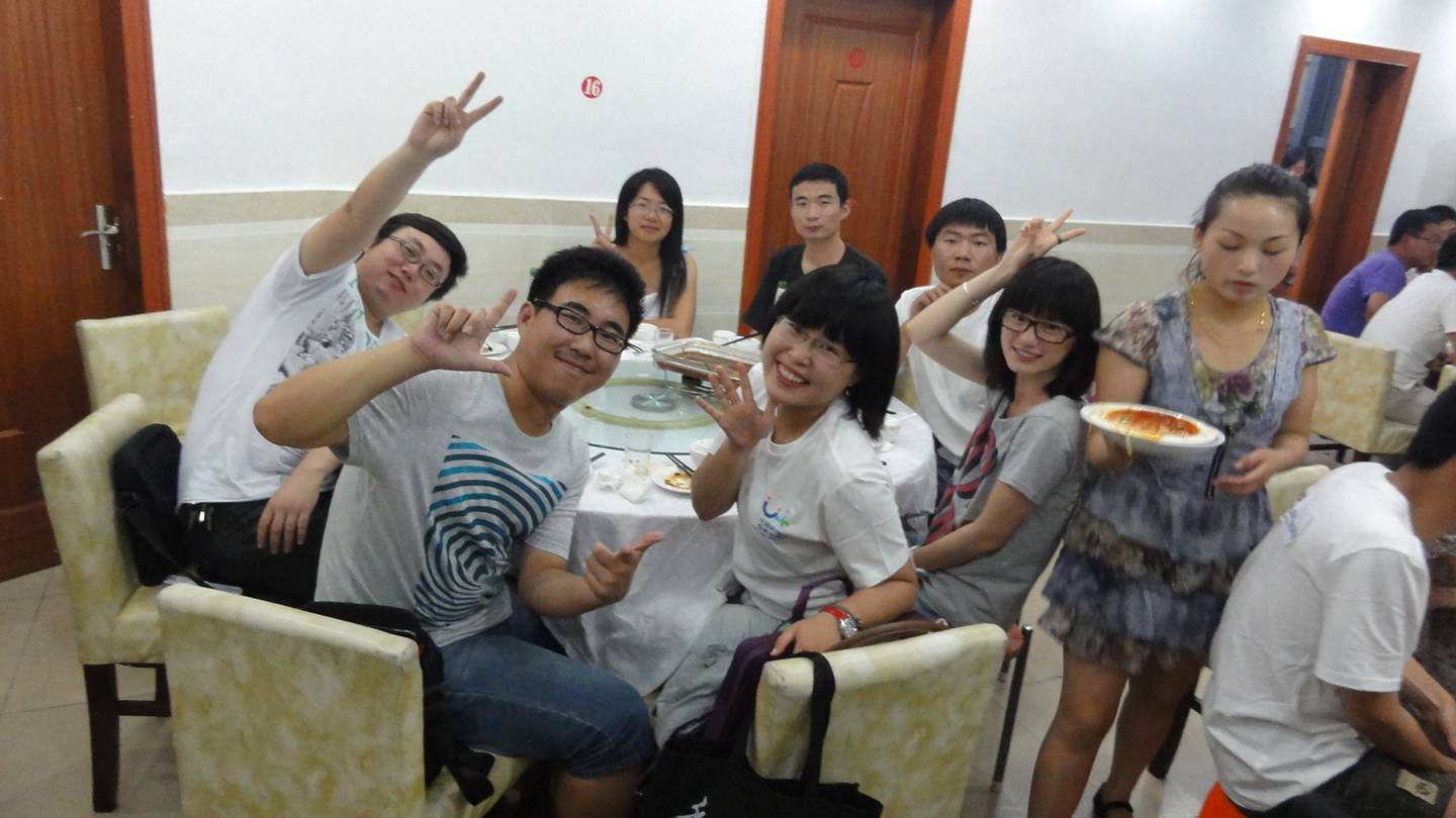 Picture:  TEDx Jiangnan University organizers and speakers go out for the typical Chinese feast after the show.  Wuxi, China