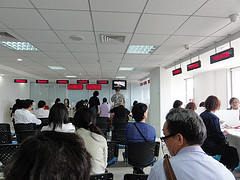 Picture: The Canadian visa centre in Beijing, not my favourite place in the world.  Beijing, China