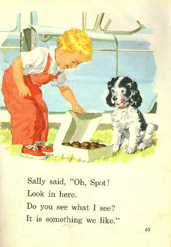 A page from the Dick and Jane primer.