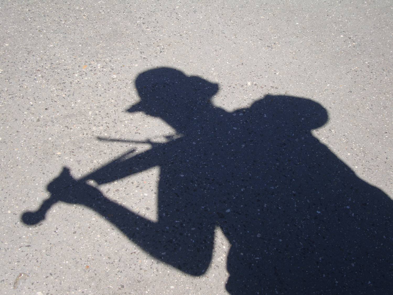 I'm hoping to become a shadow of my former self.  This was my shadow under the bright Australian sun.