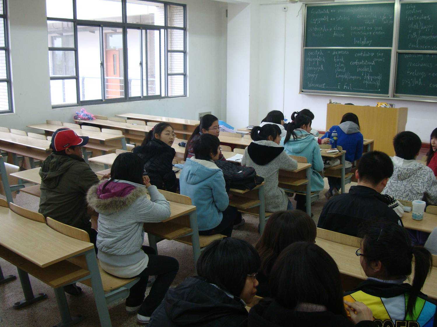 My students arranged to make changing partners easy.  Jiangnan University, Wuxi, China