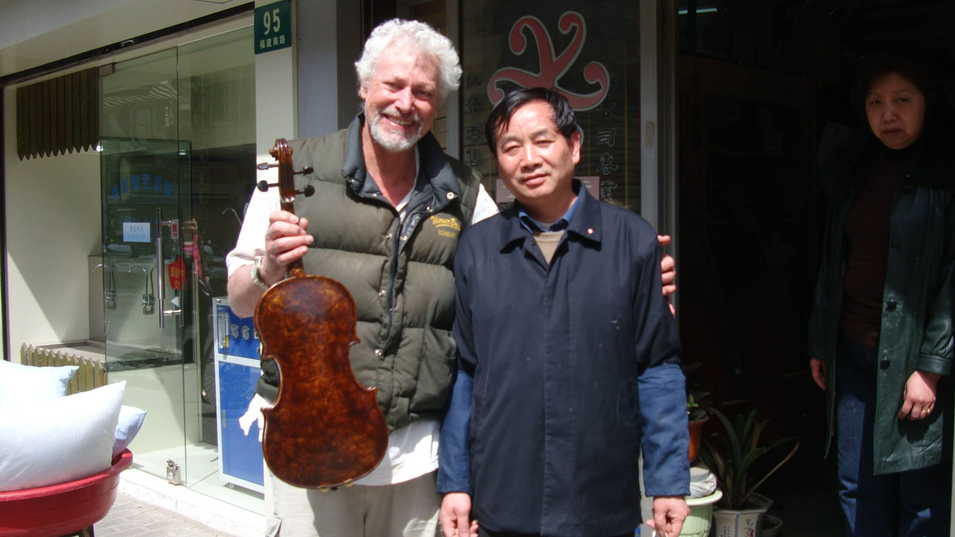 My favourite master violin maker, Shanghai, China.