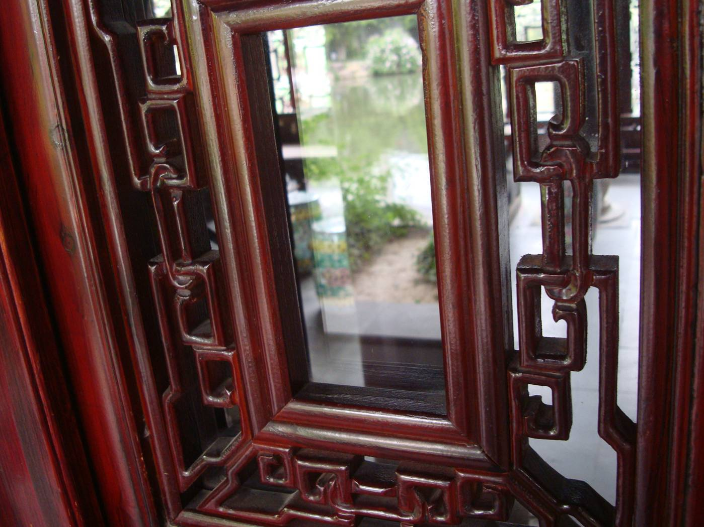 Picture: Windowframe detail around a display room near the new museum.  Wuxi, China