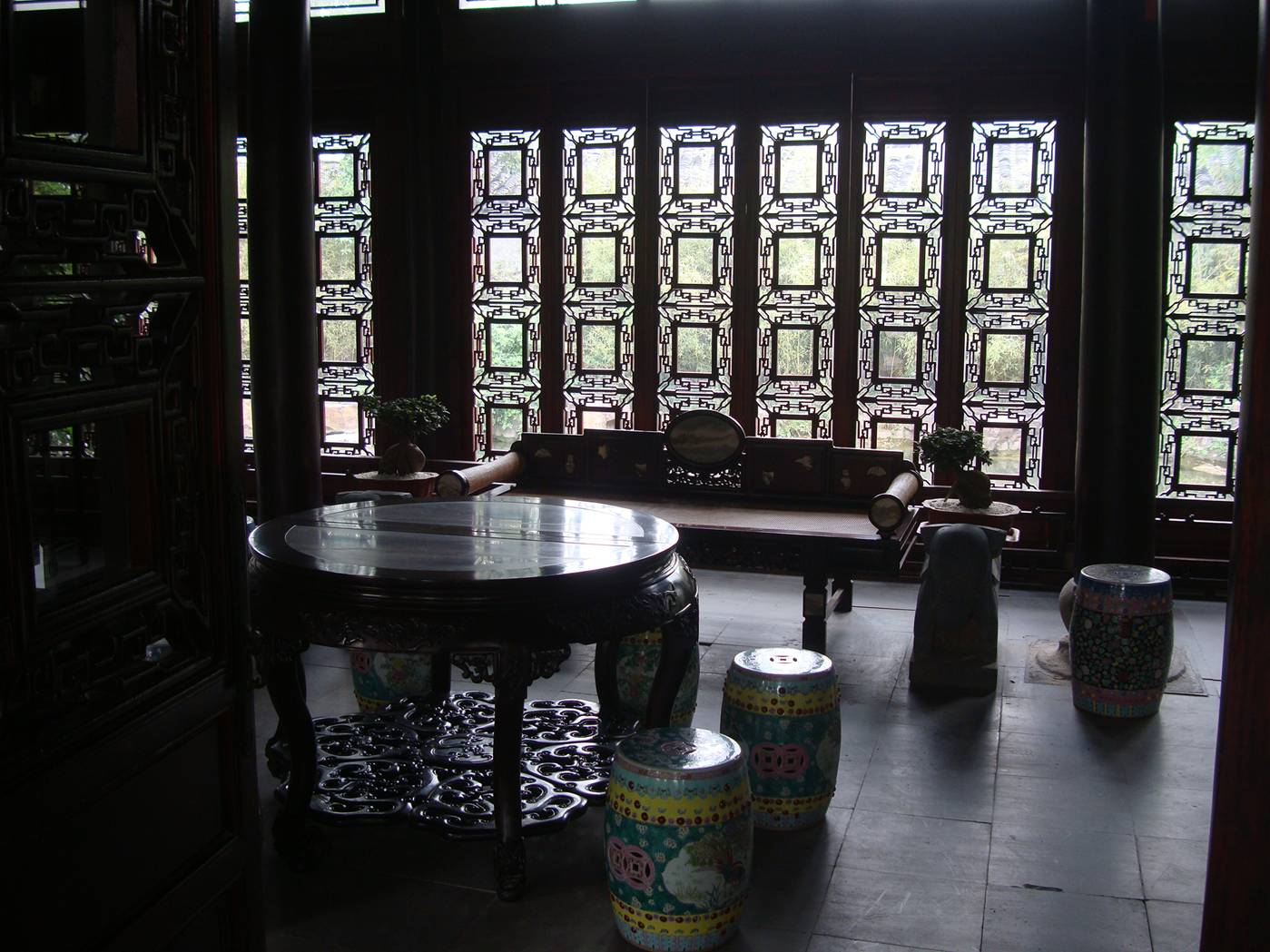 Picture:  A classically furnished  display room near the new museum.  Wuxi, China