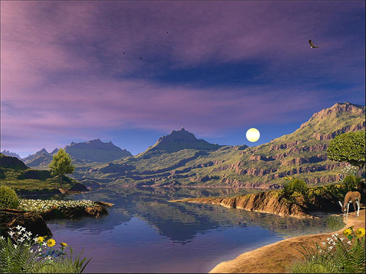 Picture:  An ancient lake full of water by moonlight.  Can I remember this?