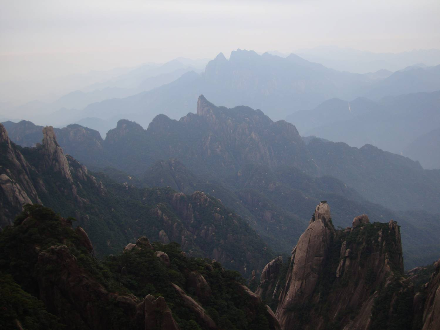 Breathtaking, in more ways than one.  View from San Qing Shan,  Jiangxi Province,  China