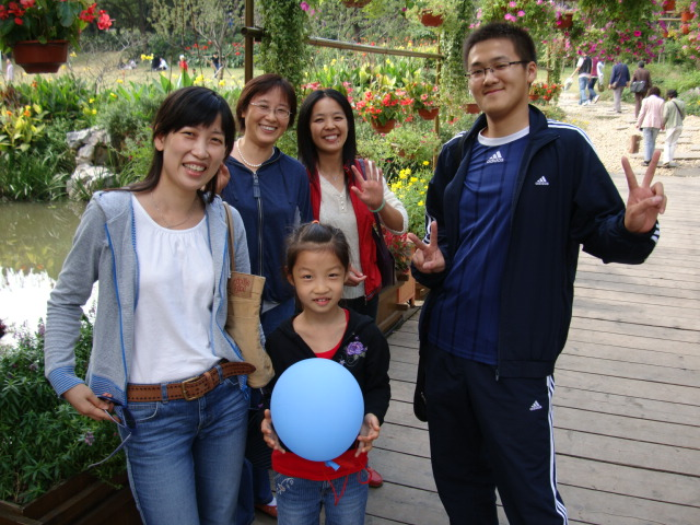 George and his family,  Xi Hui Park,  Wuxi,   China