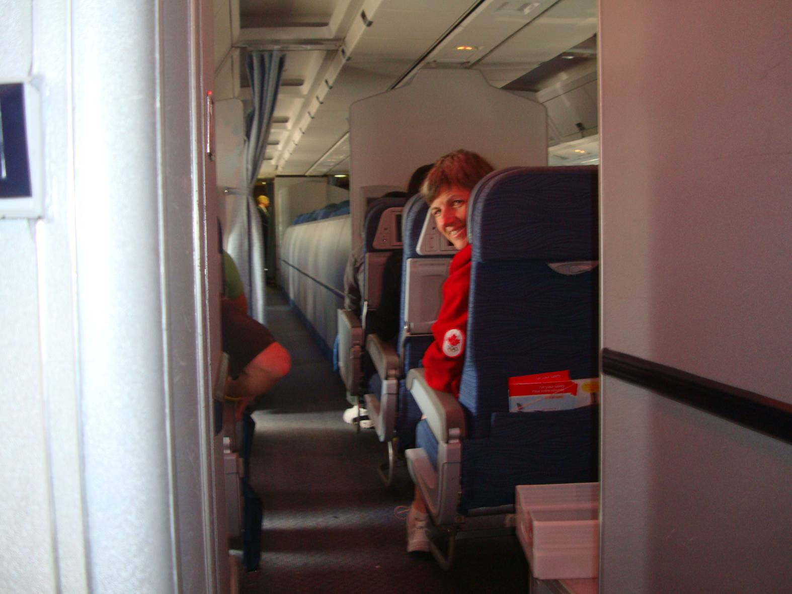 picture:  Ruth and I had separated seats on the flight home.  It's almost the furthers we'd been apart since before the wedding.