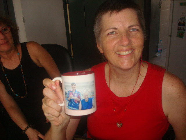 Mugs with our pictures on them.  Such a thoughtful gift.