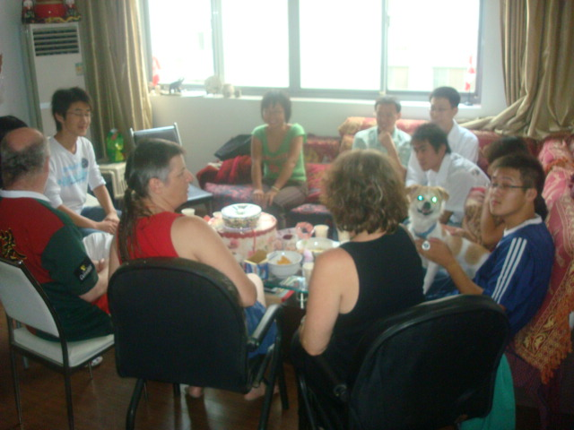 Birtheday party for Ruth Anderson,  Jiangnan University, Wuxi,  China