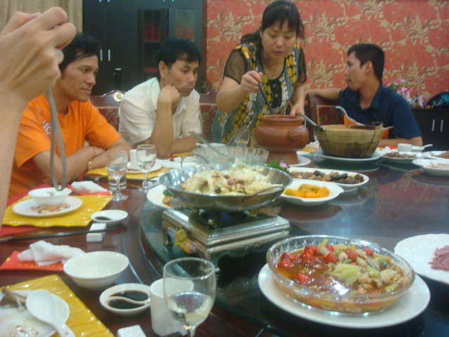 Mid-Autumn Festival family dinner.  Wuxi,  China