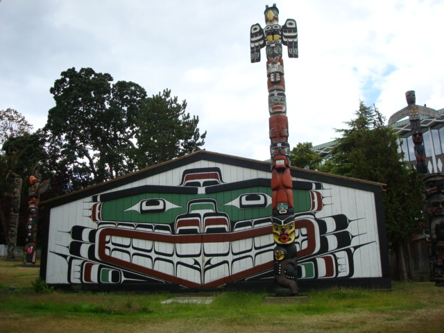 West Coast First Nations longhouse,  Victoria,  B.C.