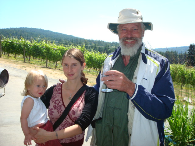 Wine tasting on Saltspring Island