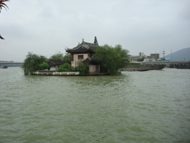 Island house in the Grand Canal,  Wuxi,  China
