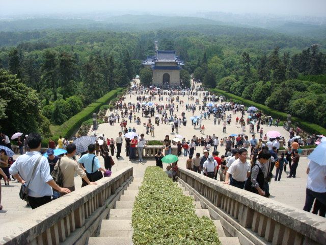 view from Dr. Sun Yat-Sen's mausoleum,  Nanjing,  China