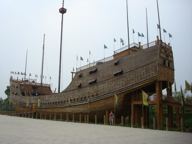 Zheng He treasure ship recreated in Nanjing,  China