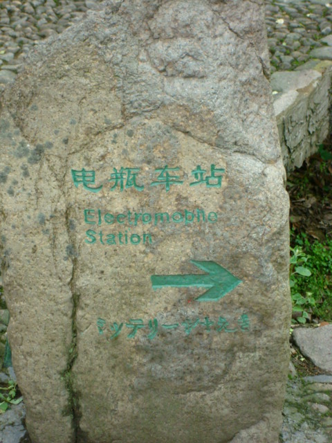 Chinglish carved on a stone Wuxie Scenic Area,  Zhejiang Province, China