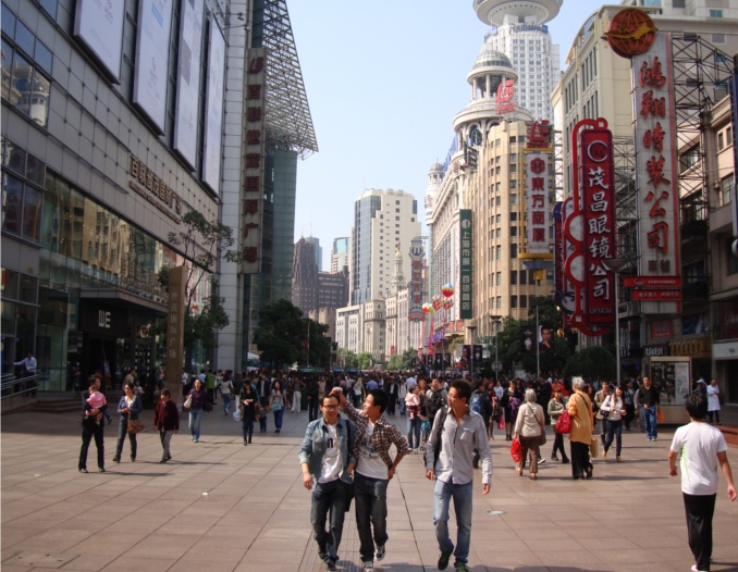 Picture: Nanjing Lu, the pedestrian mall in Shanghai, is always full of life and fun.