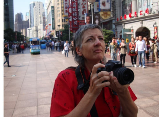 Picture: Ruth on Nanjing Lu looing for another photo op.