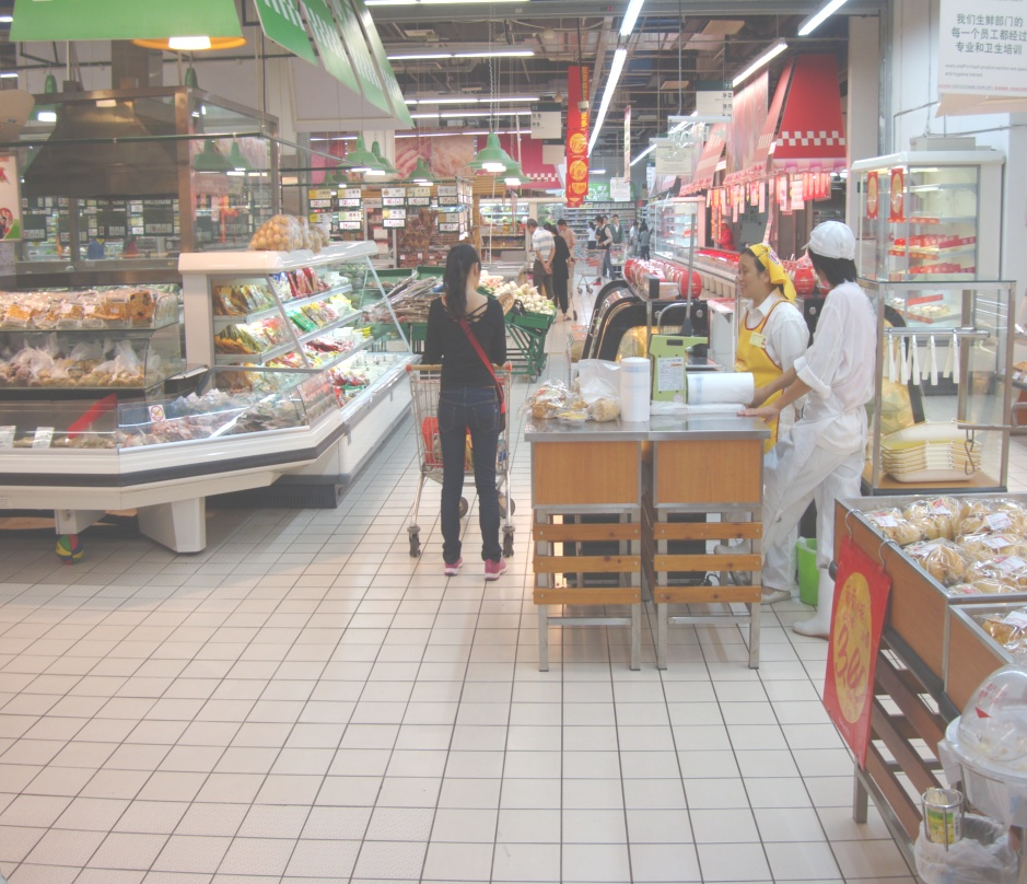 Picture: Auchan bread and meat.  Perfectly ordinary.