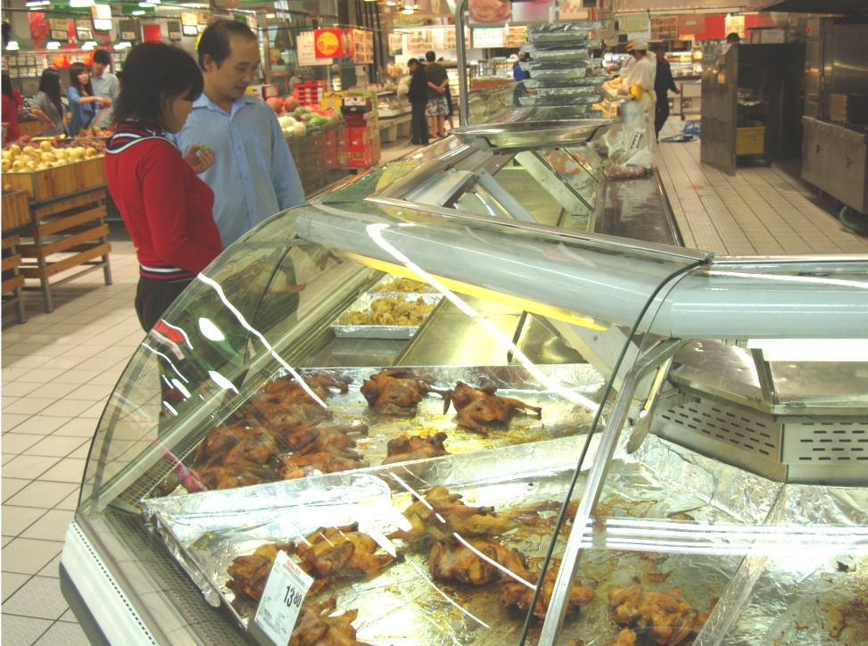 Picture: Auchan deli.  No Italian or Mediterranean, and much deep fried.