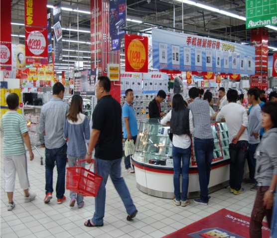 Picture: The electronics department at Auchan.
