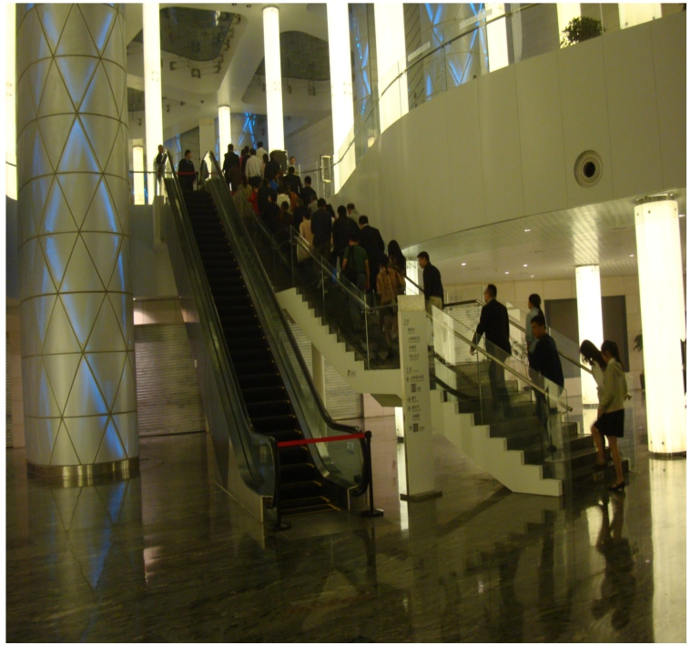 Picture: inside the Wuxi Grand Theatre.  Built to impress.