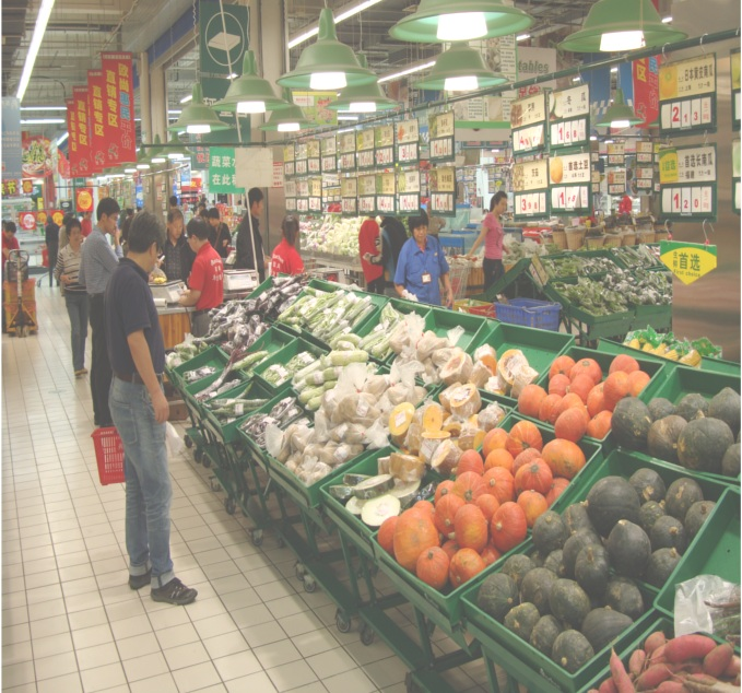 Picture: Auchan pumpkins and veggies.