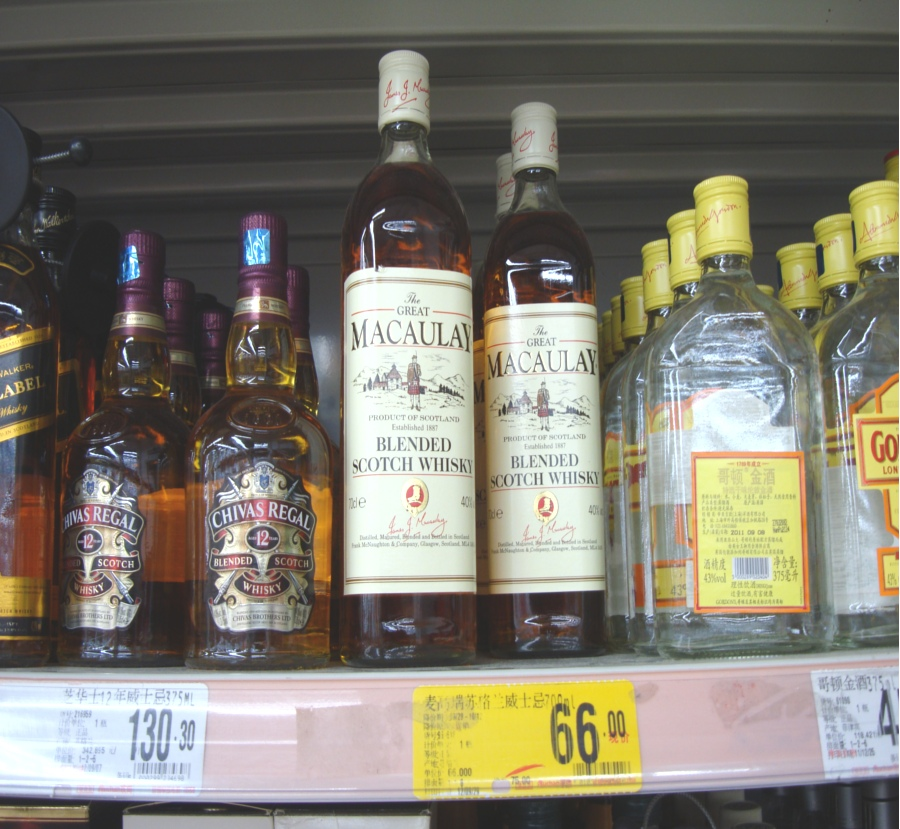 Picture:  Auchan supermarket scotch at 66 RMB/bottle
