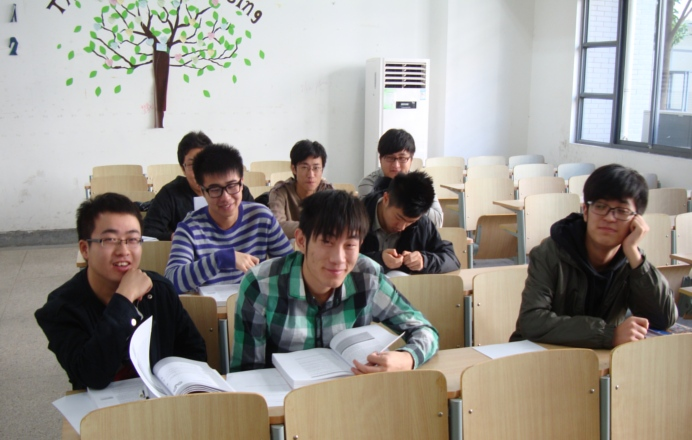 Picture:  My underachievers at North American College of Jiangnan University, Wuxi, China