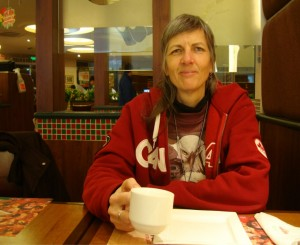 Picture: Ruth in Papa Johns Pizza, Wuxi, China