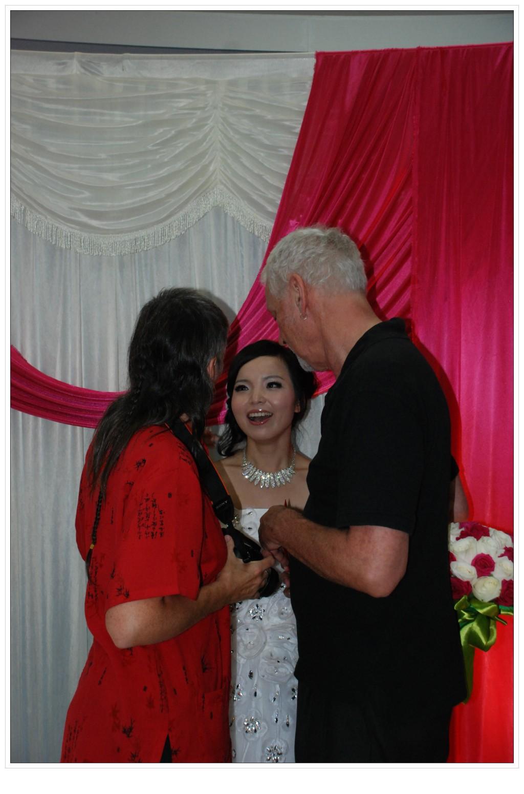 Picture:  David and Ruth at Jenny's wedding. Shanghai, China