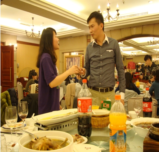 Picture: This is a traditional Chinese party, where everybody tries to get everybody else drunk and friendly.