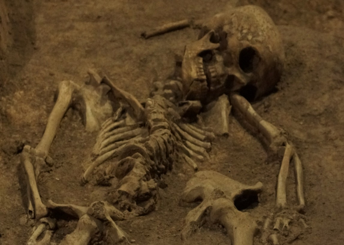 Picture: Just one of ten thousand victims of the Rape of Nanjing in this mass grave..