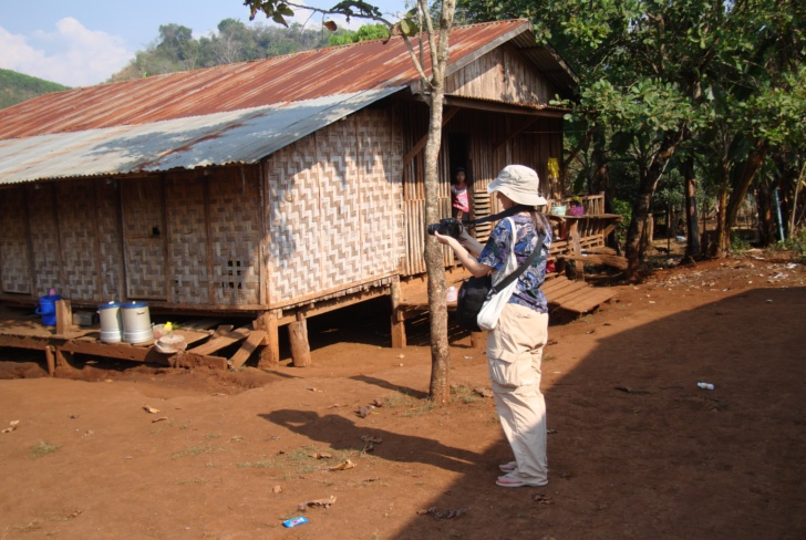 Picture:  Schoolyard in a Burmese village near Sangkhlanaburi