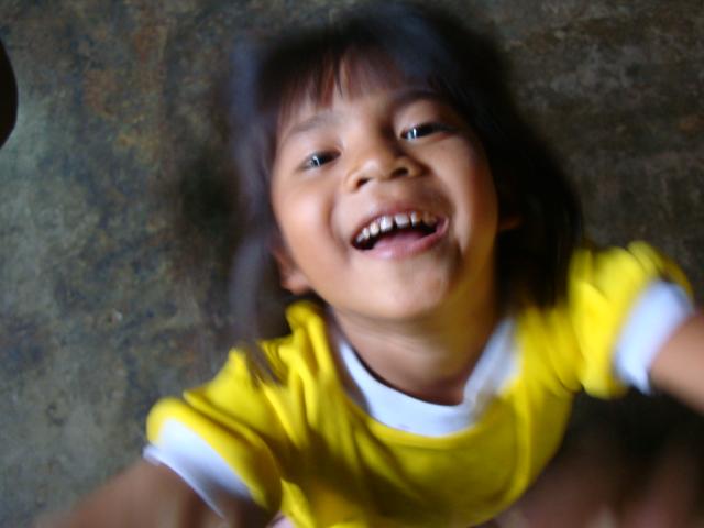 Picture:  My typical view of one of Naam's kids.  Baan Maa Naam, Sangkhlaburi, Thaiiland.