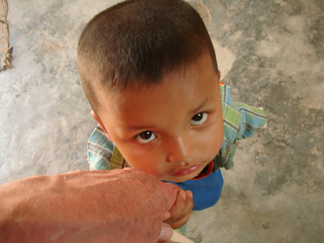 Picture: I was adopted by this little guy for the duration of my visit.  Children of the Forest, Sangkhlaburi, Thailand