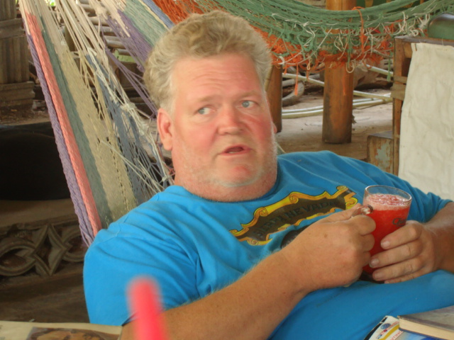 Picture:  Jimmy, owner of the eponymous Jimmy's, Sangkhlaburi, Thailand